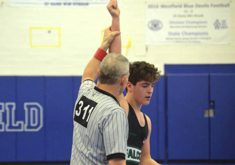 Anthony Roige of Saint Joseph pinned his first-round opponent.png