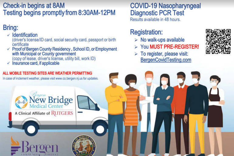 Bergen County Offers Drive-Thru Covid Testing Beginning March 29