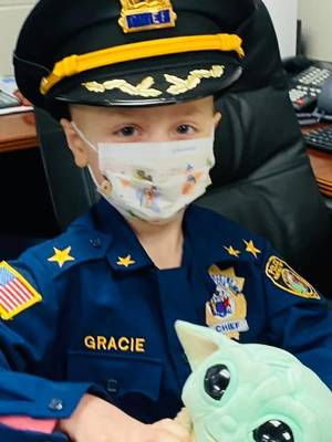 "Five-Year-Old Battling Cancer is ""Police Chief"" for a Day"