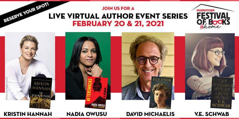 Morristown Festival of Books Announces @Home Virtual Event; Feb. 20 & 21