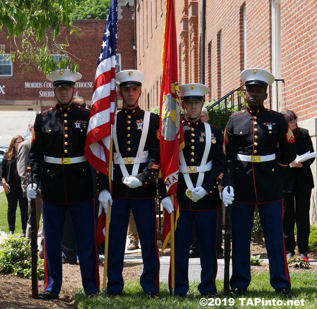 a The Marine Corps Color Guard, Golf Co, 2nd Battalion, 25th Regiment from Picatinny Arsenal ©2019 TAPinto Montville.JPG