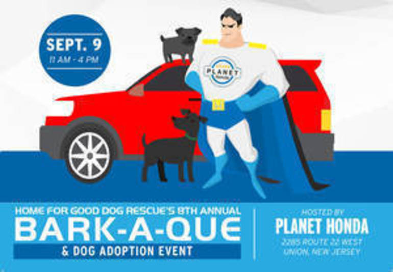 Eighth Annual 'Bark-A-Que' to Help Rescue Dogs Find Homes Set for September at Planet Honda in Union