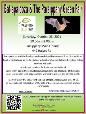 Parsippany Green Team to Host Bat-apalooza and Green Fair