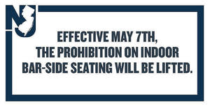 Beginning Today, May 7 More Restrictions on Gatherings Ease on Bar Seating and Buffets