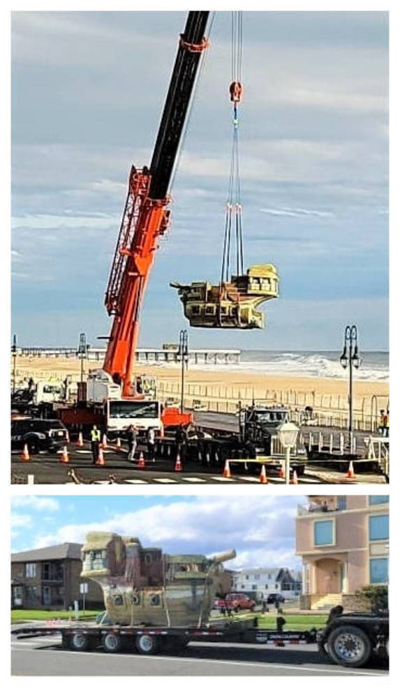 Thar They Go! Deteriorating Pirate Ships Hoisted from Belmar's Beachfront Playgrounds