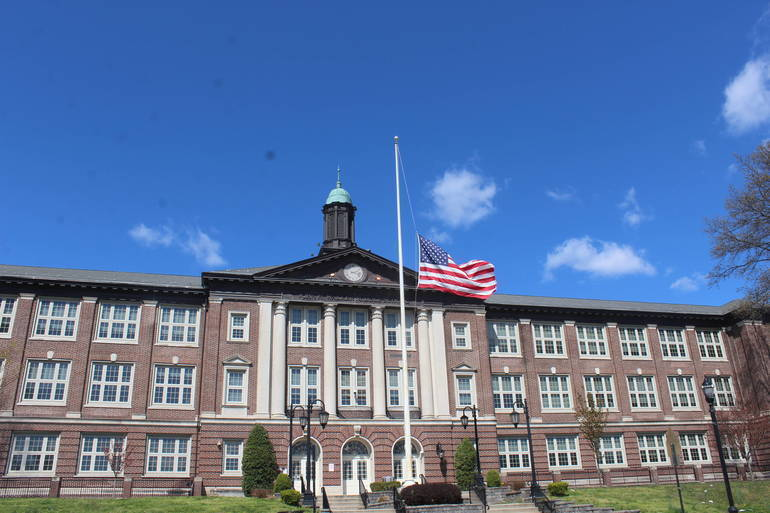 John H. Walker Middle School Nutley American Flag
