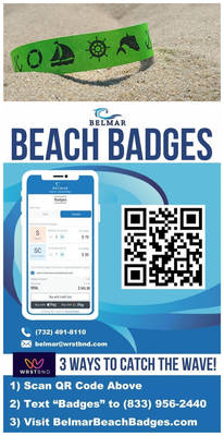 Shore News: Belmar Goes Digital with Advance Daily Beach Badge Sales for First Time