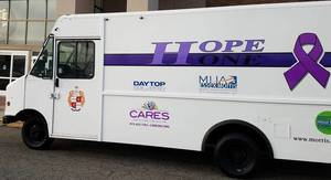 July Schedule for The HOPE ONE Van; The Van Will be in Florham Park on Tuesday, July 20