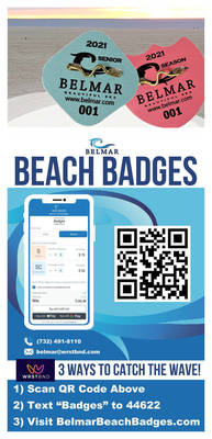 Belmar Beach Badges for 2021 Season on Sale through New Contactless Method.