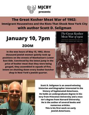 Free Virtual Book Discussion: THe Great Kosher Meat War of 1902
