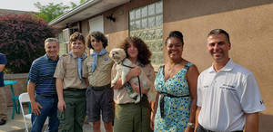 Eagle Scouts Donate Benches and Table to Alex Caprio Animal Control Facility