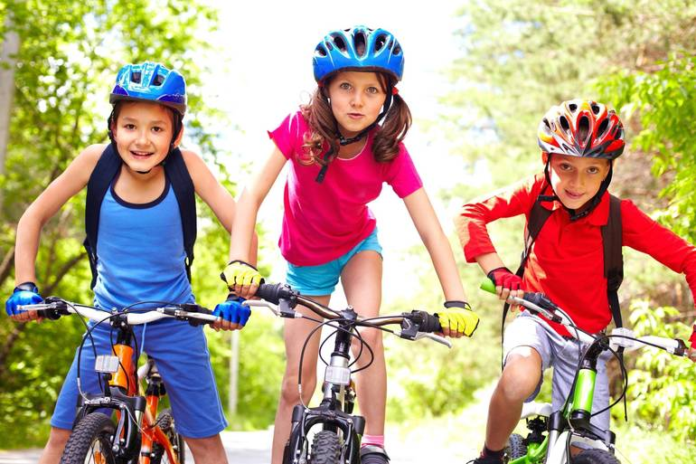 Young bicycle riders