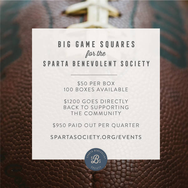 Sparta Benevolent Society Holds Big Game Squares Fundraiser