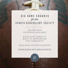 Sparta Benevolent Society Holds Big Game Squares Fundraiser