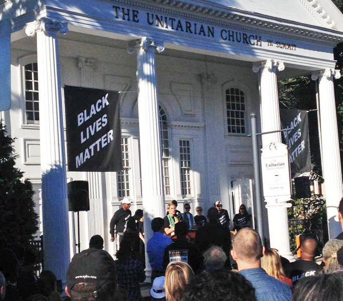 Raising Black Lives Matter Banners in 2016