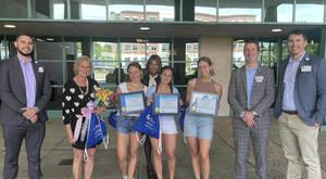 Montclair High School's Blue Scrub Club donates to  Hackensack Meridian Mountainside Medical Center