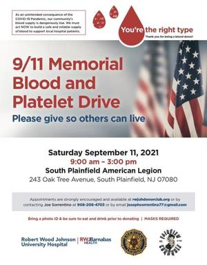 Fairview Cornhole Organization Hosting 9/11 Memorial Blood and Platelet Drive