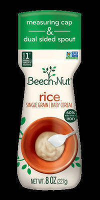 Parents Take Note : Beech-Nut Recalls Single Grain Rice Cereal