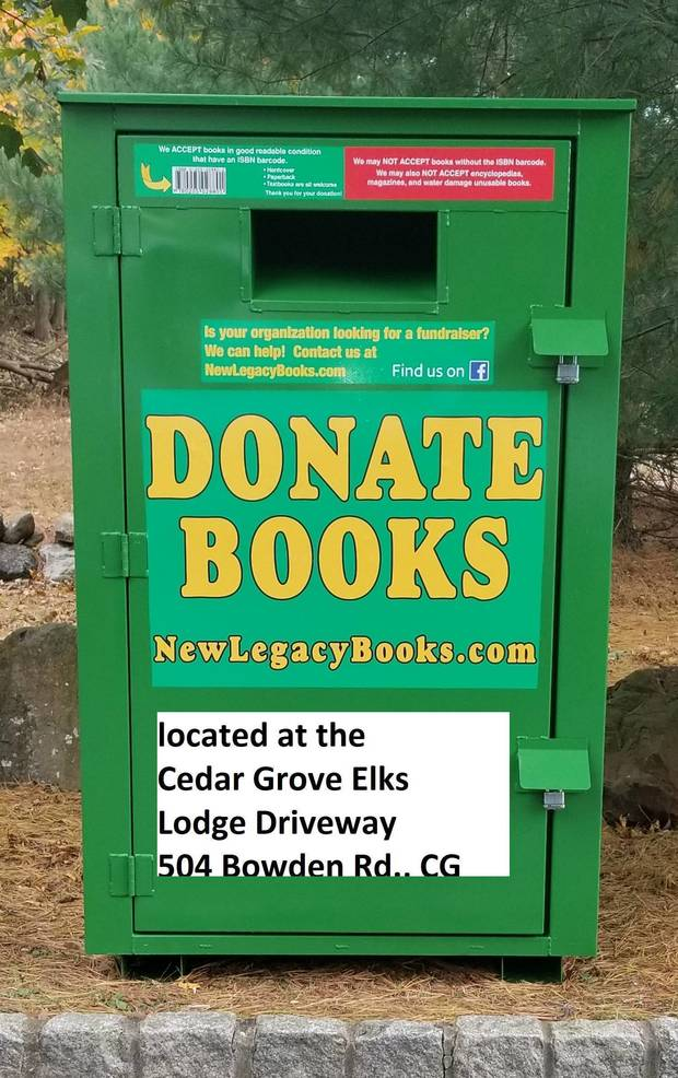 Donate Books Box at CG Elks