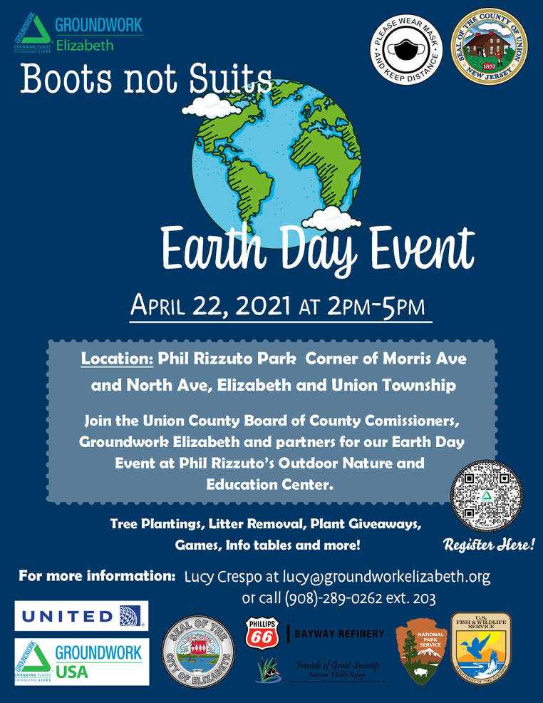 """Boots not Suits"" Earth Day Event at Phil Rizzuto Park"