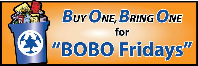 BOBO Fridays food drive continues Jan. 15