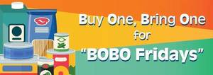 BOBO Fridays food Drive continues on Sept. 17
