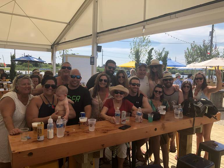 Entire Snyder & Carlin family on LBI 2019