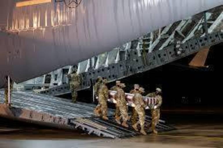 Arrival of Air Force Captain Kelliann Leli of Parlin, Middlesex County, NJ.