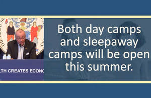 Murphy Announces Opening of Summer Camps, Hints at More Easing of Restrictions