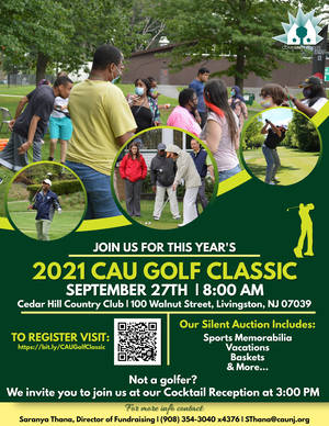 flier for 2021 Community Access Unlimited Golf Classic, September 27