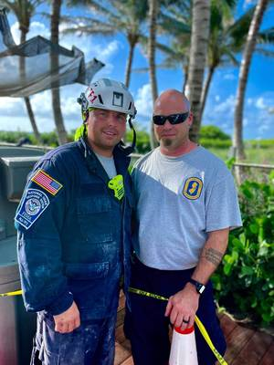 New Jersey Firefighters Help in Recovery Effort at 'Horrific' High Rise Collapse in Miami