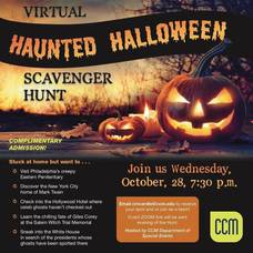 Public Invited to CCM's Virtual Haunted House Halloween Scavenger Hunt