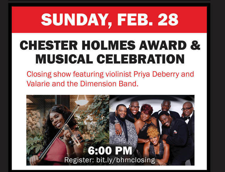 Join the Union County Board of Commissioners to Celebrate Black History Month with Music and Chester Holmes Humanitarian Award