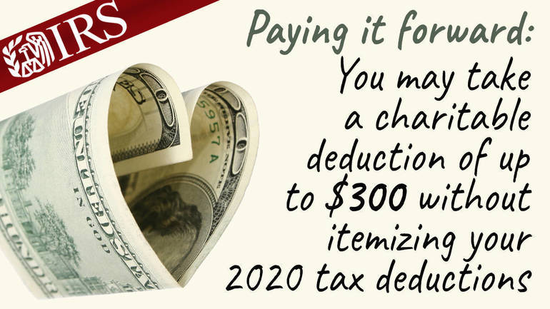 Special $300 tax deduction helps most people give to charity this year – even if they don't itemize