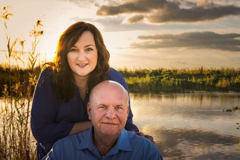 Christine with husband, Hannes
