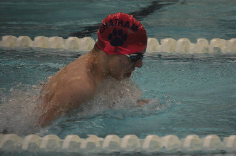 Chatham swimmer swims Breaststroke in the Medley Relay.png