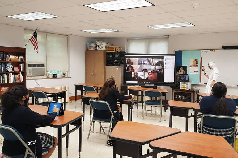 in person learning, remote learning