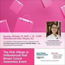 Clara Maass Medical Center, Breast Cancer Awareness Month, TAPinto