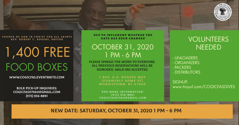 COGICFAS Cares Food Box (New Date) October 31, 2020