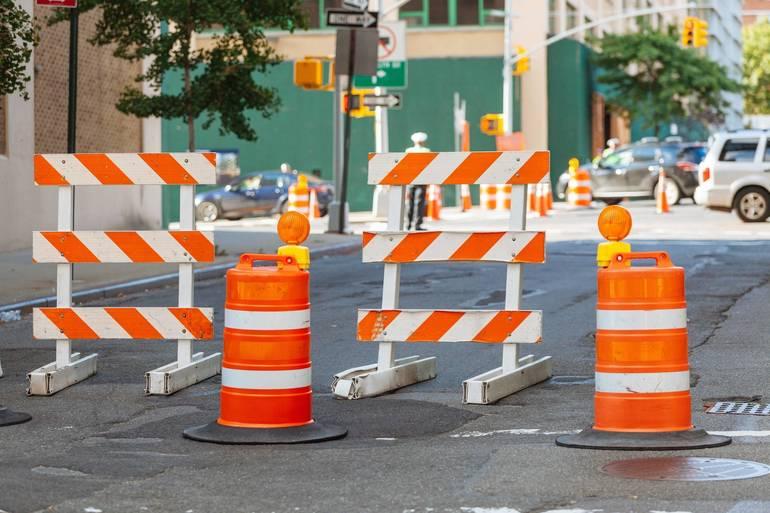 Road Construction Along New Road