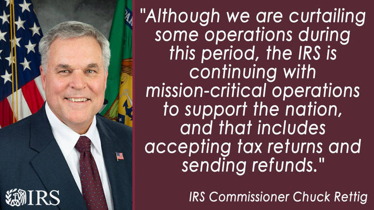 IRS Operations During COVID-19: Mission-critical functions continue