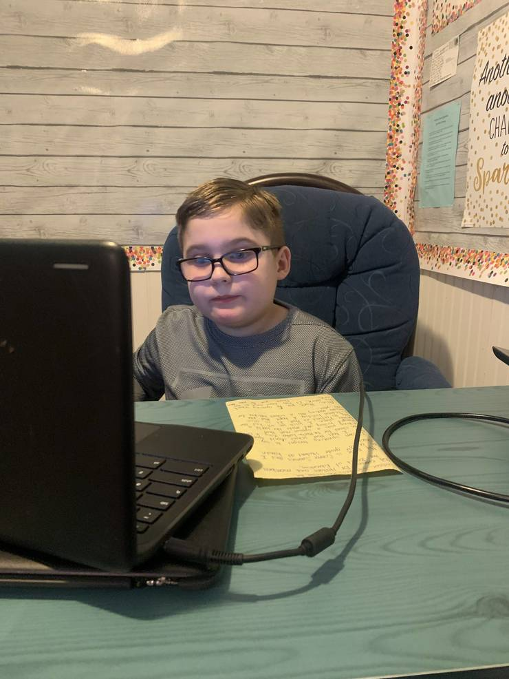 Connor online during the January HH BOE meeting from Adrienne Simmons.jpg