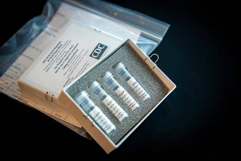 Coronavirus test kits.