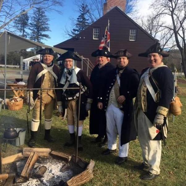 Colonial Christmas re-enactors