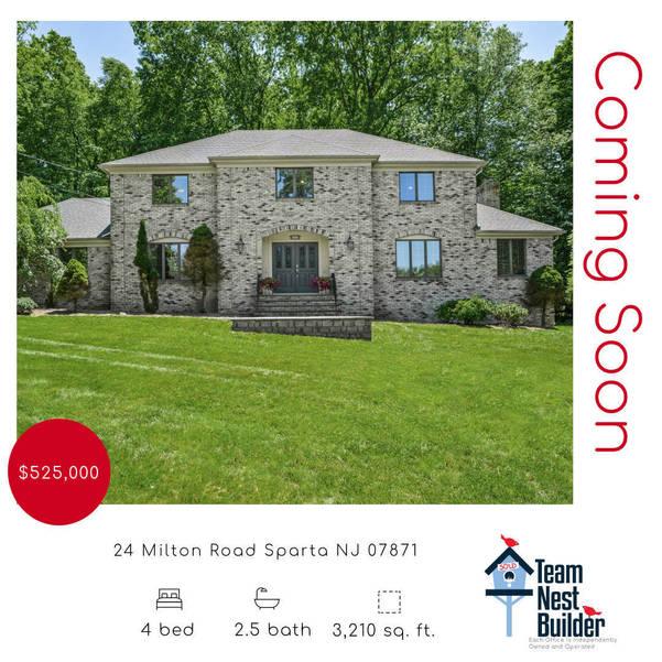 NOW AVAILABLE- 24 Milton Road Sparta NJ 07871