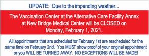 Carousel image 3e0ca652143554c48514 6c94221e0e8e3a80f2f1 covid vaccine closed feb 1 storm