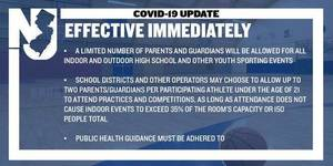 Parents will be allowed to attend high school sports events.