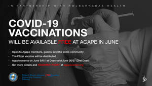 Robert Wood Johnson University Hospital Rahway Partners with Agape Family Worship to Offer Free Covid-19 Vaccines  June 5 and 6