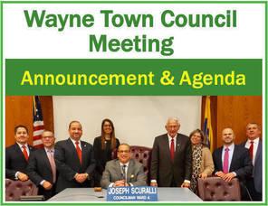 Wayne Town Council Meeting Agenda