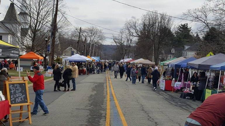 Vendors lined the street at the 2018 Home for the Holidays in Roxbury